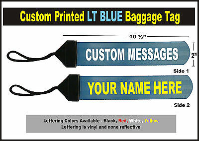 Light BLue Large Custom Printed Gear Tag for your Bag luggage or Duffle