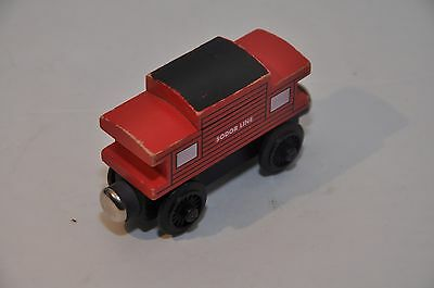 Vintage Red Roofed SODOR CABOOSE with FLAT Magnets and STAPLES / First Edition