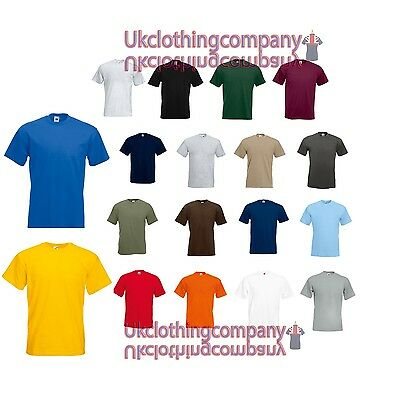 Fruit Of The Loom Super Premium T-Shirt - Men's plain tops - S M L XL 2XL 3XL