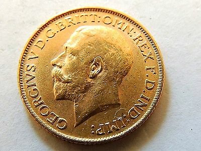 1912 British One Sovereign George V Gold Coin