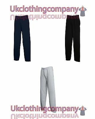 Fruit of the Loom Classic Open Hem Jog Pants-Adult Tracksuit Bottoms - S to 2XL