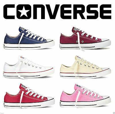 Convers Women's All-Star Chuck Taylor Low Top Trainers Full Size Shoes
