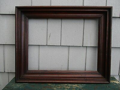 Antique 19thC Walnut Deep Picture Frame fits 12 x 16