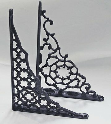 2 old Shelf support Brackets Eastlake Designs rustic cast iron vintage not a pai