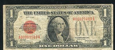 Fr. 1500 1928 $1 One Dollar Red Seal Legal Tender United States Note (P)