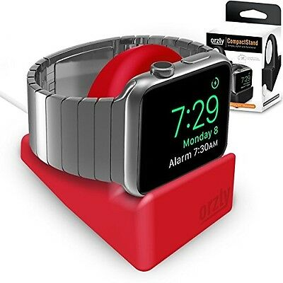 Compact Stand For Apple Watch - Nightstand Mode Compatible - RED Support