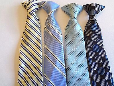 Boy's Pre-Tied -   Neck Ties (4) Ties For Ages 12 - 14 Years
