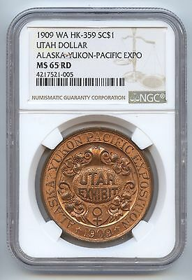 So Called HK-359 Utah Dollar (#7291) NGC MS65RD. Carefully Check out the Photos.