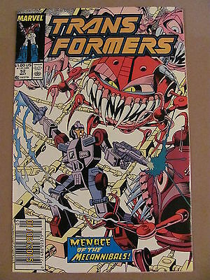 Transformers #52 Marvel Comics 1984 Series Newsstand Edition