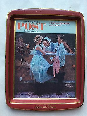 Vintage Norman Rockwell After The Prom 1957 Saturday Evening Post Tin Tray Daher