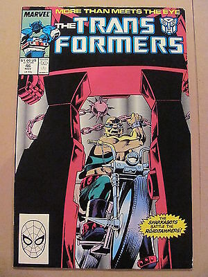 Transformers #46 Marvel Comics 1984 Series 9.2 Near MInt-