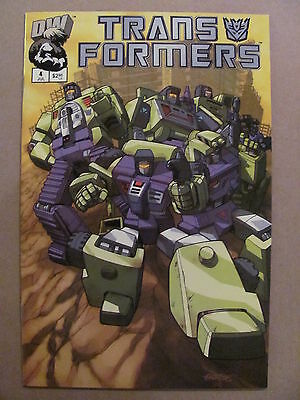 Transformers G1 #4 Dreamwave 2002 Series Cover B 9.4 Near Mint