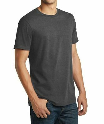 District Made 100% Cotton Gray Mens Plain Blank Tshirt Short Sleeve Tee T-Shirt