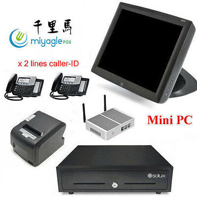 "15"" All In One POS System Restaurant Point Of Sale MINI PC ELO Touchscreen"