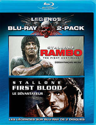 Rambo: First Blood/Rambo: The Fight Continues (Blu-ray Disc, 2010, 2-Disc...