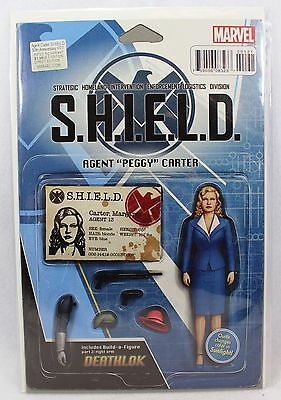 Marvel Comics SHIELD Agent Peggy Carter Action Figure Cover Variant Issue 001 1
