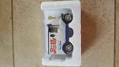 Brand new die cast Pepsi-Cola Bank with key