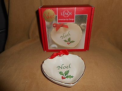 (New) Lenox - Holiday Sentiment Heart Dish - Noel - Boxed
