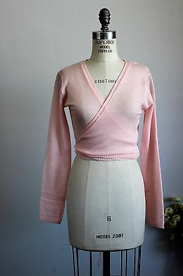 New With Tags Danskin Dance Shrug, Warm Up Wrap Sweater Top, Pink, Size L