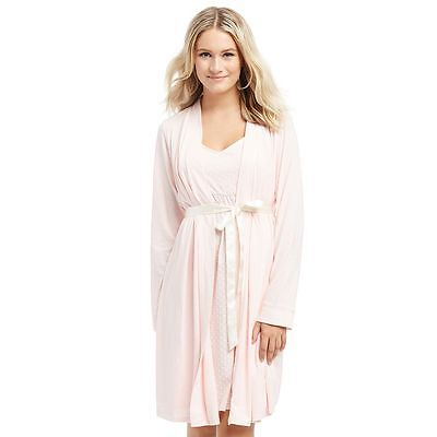 NWT Oh Baby! MOTHERHOOD MATERNITY  Pink NURSING Gown & Robe Set M, L and XL $54