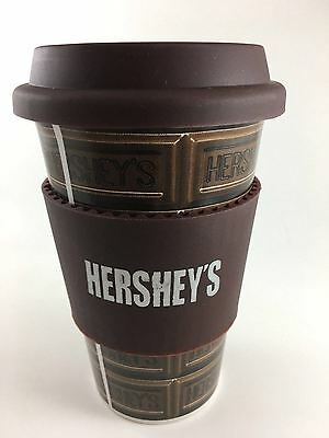 HERSHEY'S Ceramic Travel Mug With Silicone Sleeve and Lid.