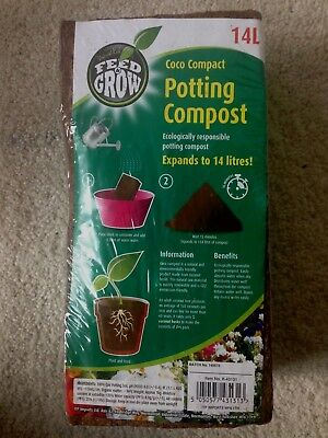 Potting Soil Compost Expands To 14L Coconut Coir For Plants Flowers And Seeds