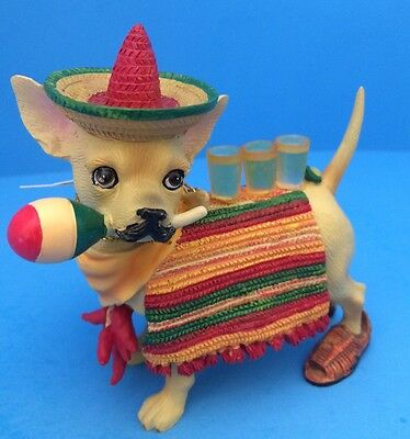 """New Aye Chihuahua """"Ah Mexico"""" Resin Figurine By Westland Giftware 13325 - No Box"""