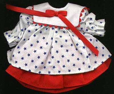 "Madame Alexander 8"" Doll Red, White and Blue Dress"