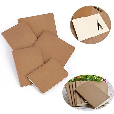 Travel Office Supplies Vintage Notebook Blank Writing Paper Cowhide Notepad