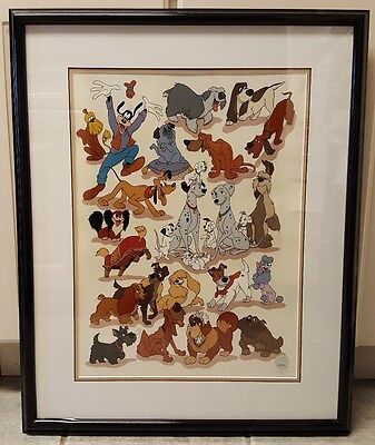 Disney's Canine Collection Sericel Extremely Rare !!!  Large