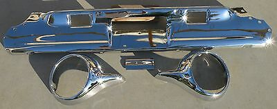 Thunderbird Back Rear New Triple Chrome Plated Bumper 61-63 1961-1963 Ford Oem 2