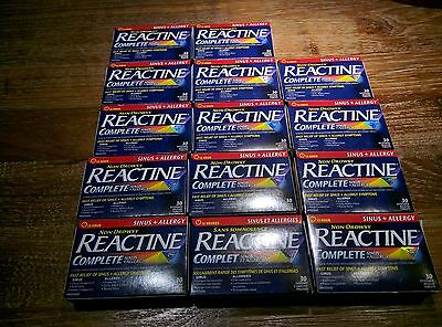 REACTINE non Drowsy Sinus and Allergy Total 14 Packs - 420 Pieces