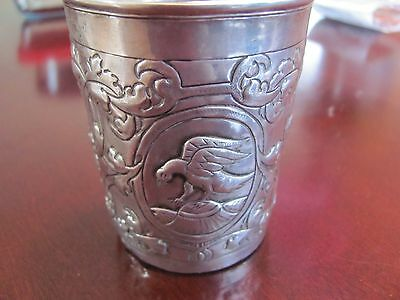 RARE Antique 1757 Russian Silver Beaker / Cup