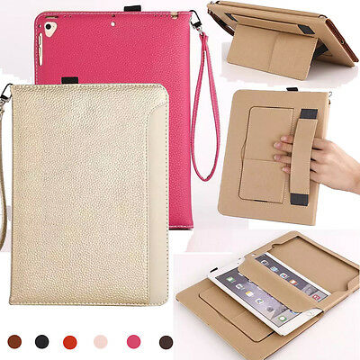 New Strap Lichee Leather Smart Stand Flip Cover Case for iPad 2/3/4/mini/Air/Pro