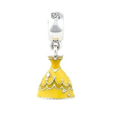 Sterling Silver EUROPEAN Charm Belle Beauty & Beast Dress + FREE Pandora Cloth