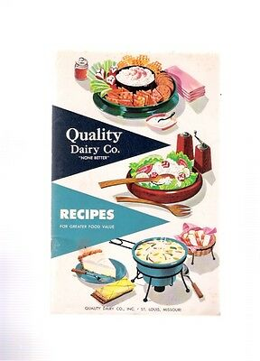 Quality Dairy Company St. Louis Vintage 1957 Recipes Booklet