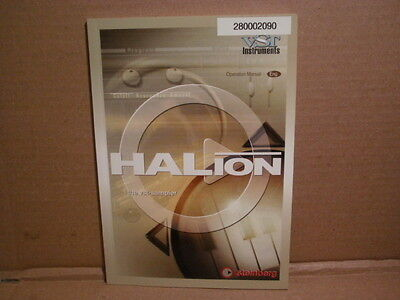 Steinberg HALion - the VST Sampler -  MANUAL Only