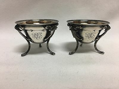 Gorham 110 Coin Silver Cornucopia Footed Salt Dip Cellars 1852-1865
