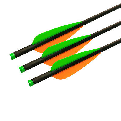6X Crossbow Bolts 20 inch Carbon Arrows Archery Targets Hunting Outdoor OD 8.8