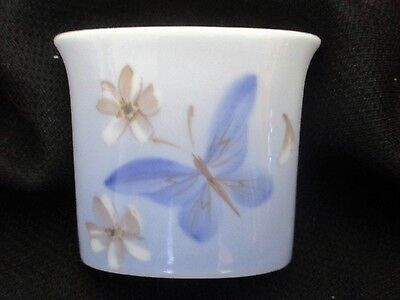 Vintage Royal Copenhagen butterfly vase ,hand painted and signed