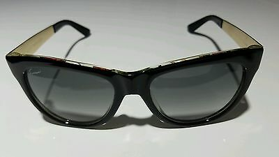 f55af2b01fe GUCCI WOMEN S SUNGLASSES GG3739 S Black Floral 55-19-140 MADE IN ...