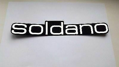SOLDANO plastic logo new style badge White  color 262 mm - 10 5/16''