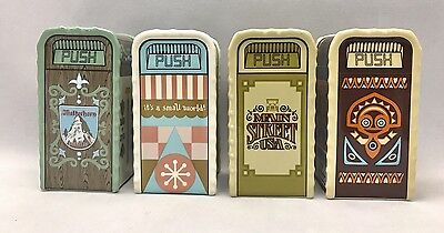 Set Of 4 Disney Parks Trash Can Ceramic Shaker - NEW with Tag