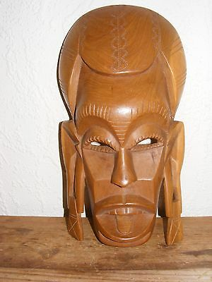 Wooden Carved Wall Mask 30cm