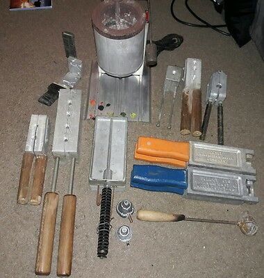 Lee Pot SMELTER 110 Volt Melter & Bullet Jigs HUGE LOT! Fishing Weight Bundle!!!
