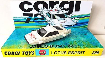 Corgi Juniors JAMES BOND 007 LOTUS ESPRIT Diecast Car & Custom 269 Display [b]