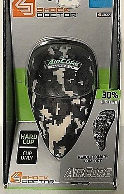 Shock Doctor 207 Adult AirCore Black Camo Hard Cup Size L Age 15 & Older New