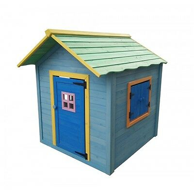 Wooden Playhouse Childrens Outdoor Fun Kids Painted Wendy Timber House Garden
