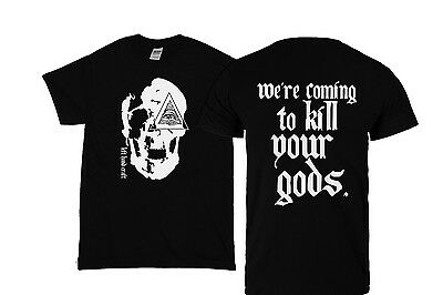 We're Coming To Kill Your Gods - t shirt - satanic clothing pentagram 666 skull