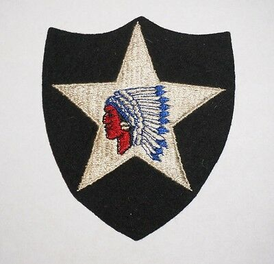2nd Infantry Division Wool Felt Patch Pre WWII US Army P3937